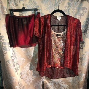 Red Sparkly Dance Costume